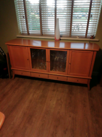 Modern lightwood sideboard