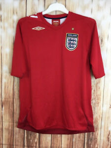 UMBRO England Red Training Football Shirt Jersey Soccer M