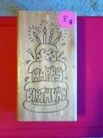 Big Birthday Cake Stamp - BRAND NEW!