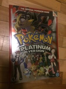 Pokemon platinum guide BOOK new livre neuf rpg