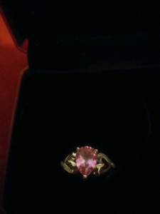 Pink sapphire ring! Great Christmas gift!