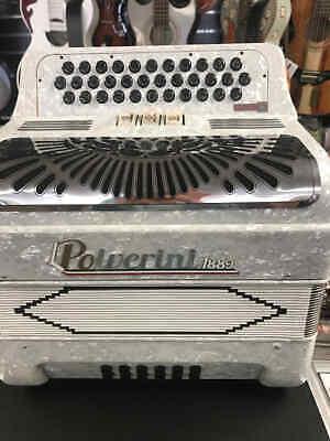 Polverini WHITE BLANCO Accordion Acordeon FA/FBe F Latino 2 3412 3 switch