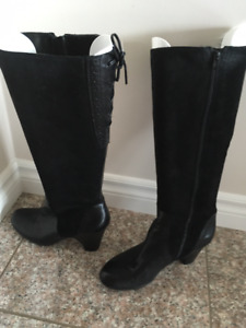 BOOTS - Black leather/Suede