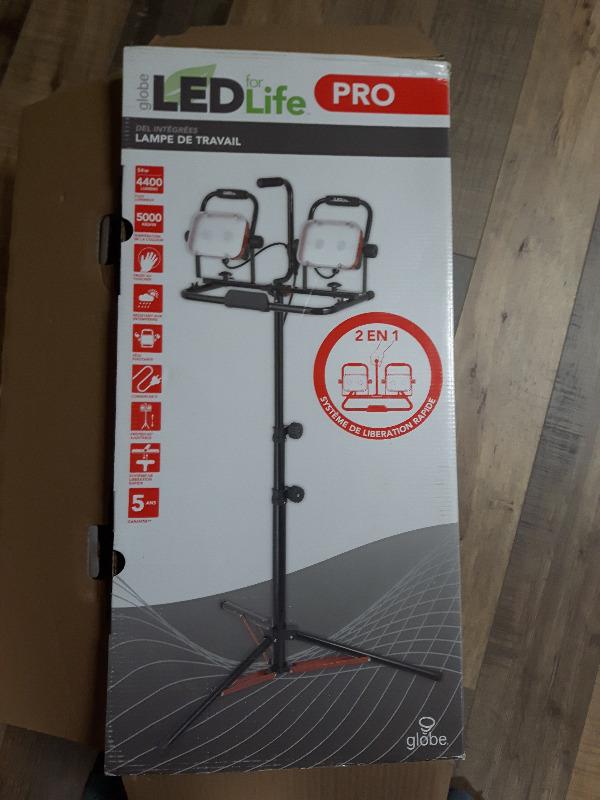 De Lampe 5ans Lamp Del Garantie Sur Travail Work Pied Led XuPkZi