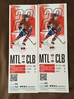 Montreal Canadiens vs Columbus blue jackets 2 tickets reds cheap