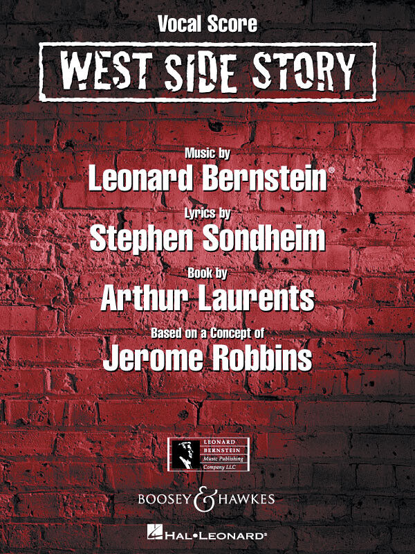 West Side Story Complete Vocal Score Sheet Music 36 Musical Songs Book