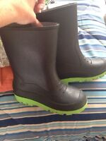 Size 2 boy Rubber Boots