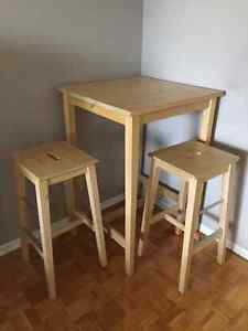IKEA table and bar stools - $150 or best offer