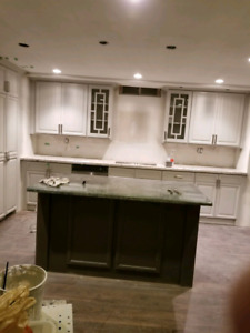 Refinish and refacing kitchen cabinets from $1700 to $6000