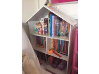White children's bookcase