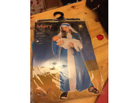 Children's 5-8 years as new Mary costume dressing up nativity