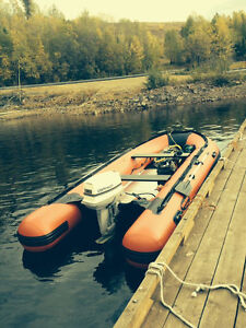 Seamax HD 14ft Inflatable with motor and trailer