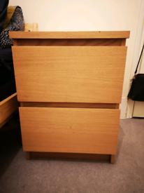 IKEA MALM 2 drawer