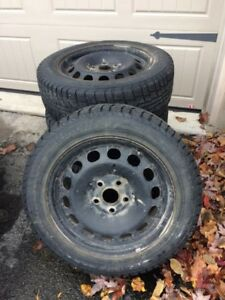Winter tires with rims from VW Jetta