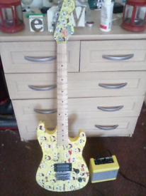 3/4 size spongebob electric guitar