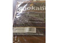 Kookaburra mocha brown 5m triangle Waterproof shade sail