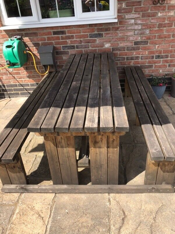 Garden Bench Large Heavy Duty In Martham Norfolk