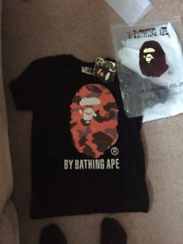 Bape tee // a bathing ape // brand new with tags still on in bag