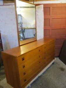 1960S ESTATE TEAK EIGHT DRAWER CHEST OF DRAWERS