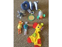 Small selection of newborn toys