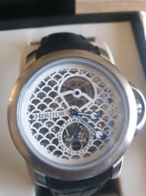 Heritor automatic Mc Kinley Skeleton watch.