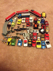 Micro-Machine cars, planes, jets, trucks, train/track $20 lot