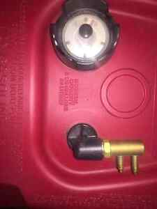 5 gallon gas tank with boat adapter brand new