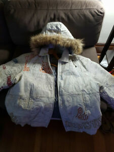 WHITE REAL LEATHER SCAR FACE JACKET 3XL