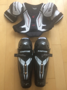 Hockey EASTON chest and shin guard (8-10 y old child)