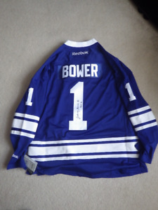 798411311 Johnny Bower Autographed jersey