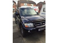 MITSUBISHI SHOGUN EQUIPPE DID FULL MOT AND SERVICE HISTORY 4x4 !!!!!may px or swap for good van !