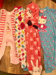 Baby girls onesies sleepers girl 12-18 months 18 clothes