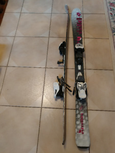 Ski w binding (120cm) and Boots (size 4.5)