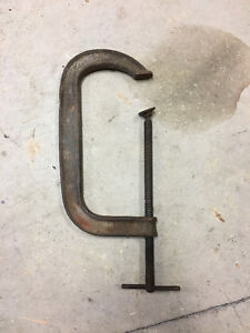 Very Nice Vintage 12 Inch C Clamp - Cast Iron