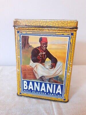 Ancienne boite BANANIA - Vintage Banania metal tin Box