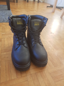Black Steel-toe Work Boots