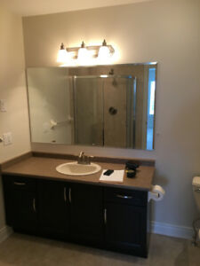 "60"" Bathroom Vanity with sink and faucet"