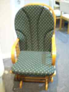 Glider rocking chair with removable cushions Peterborough Peterborough Area image 1