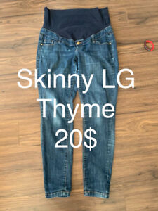Jeans skinny LG thyme maternity 20$