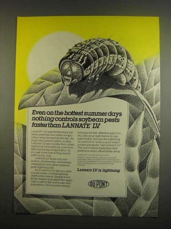 1984 Du Pont Lannate LV Ad - Contols Soybean Pests