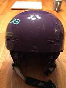 Girls Red Pure Snowboard Helmet - Purple - Size Small