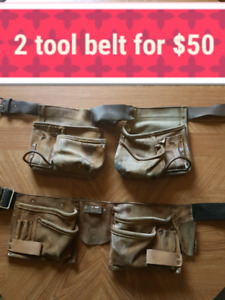 2 durable tool belts