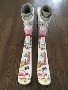 Girls Skiis and Boots