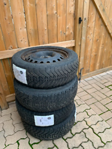 Used Winter TIres on Rims (Goodyear Nordic)
