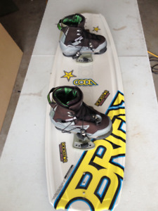 Obrien wakeboard 129 coda with ronix boots