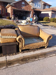 Leather love seat - genuine leather