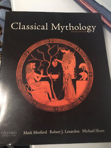 Classical Mythology Textbook and 3 of Sophocles Plays