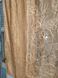 Curtain panels and valance scarves