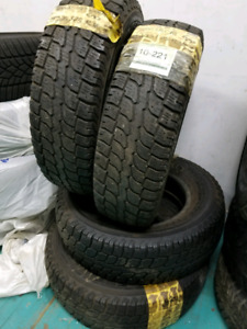 4 WINTER TIRES ( 225/ 75 / 16 )  IN EXCELLENT CONDITION  $380