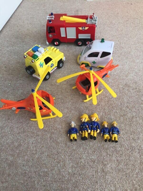 Fireman sam vehicles and figures bundle